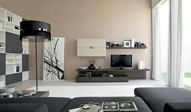 Wunderbar Braune Wandfarbe Wohnzimmer Wandfarben Beige