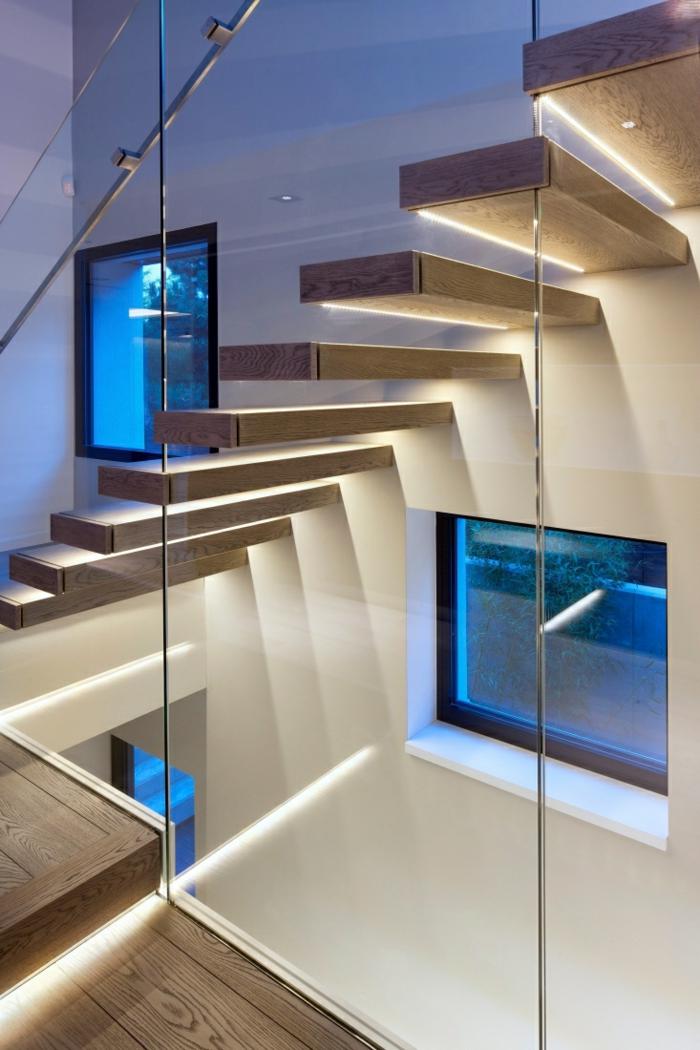 Esszimmer hängeleuchten esszimmer modern : dekoideen beleuchtung eingebaute led lichter treppenhaus stufen ...