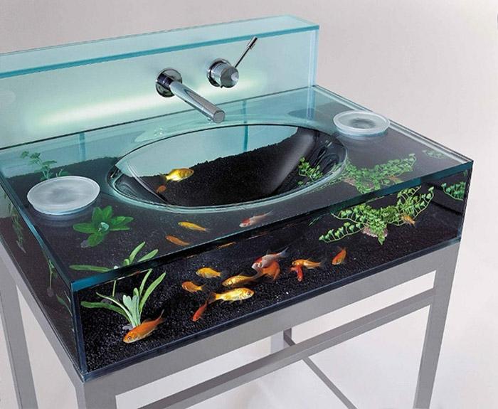 designer waschbecken aquarium
