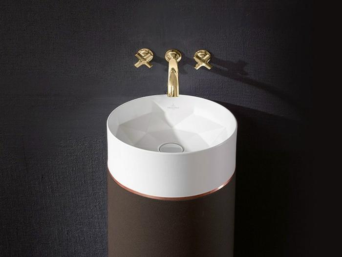 designer waschbecken futuristisches design rund octagon kai steffan