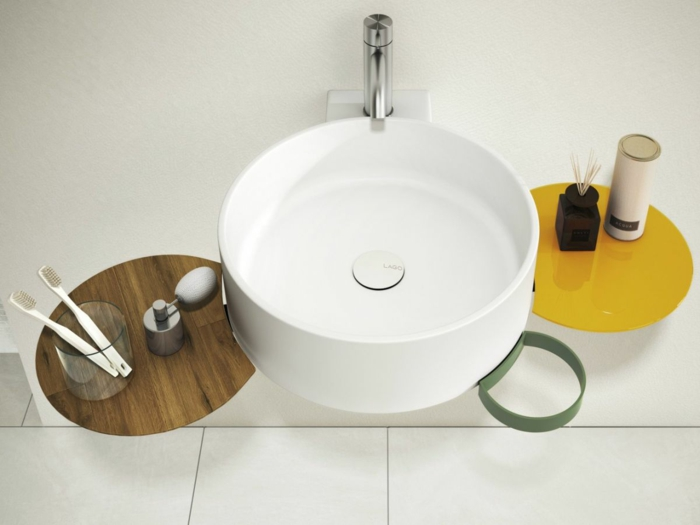 designer waschbecken minimalistisches design rund cellule daniele lago