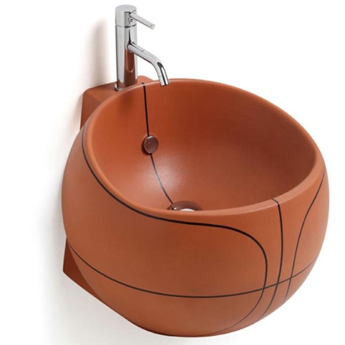 designer waschbecken rund-basketball design babatude
