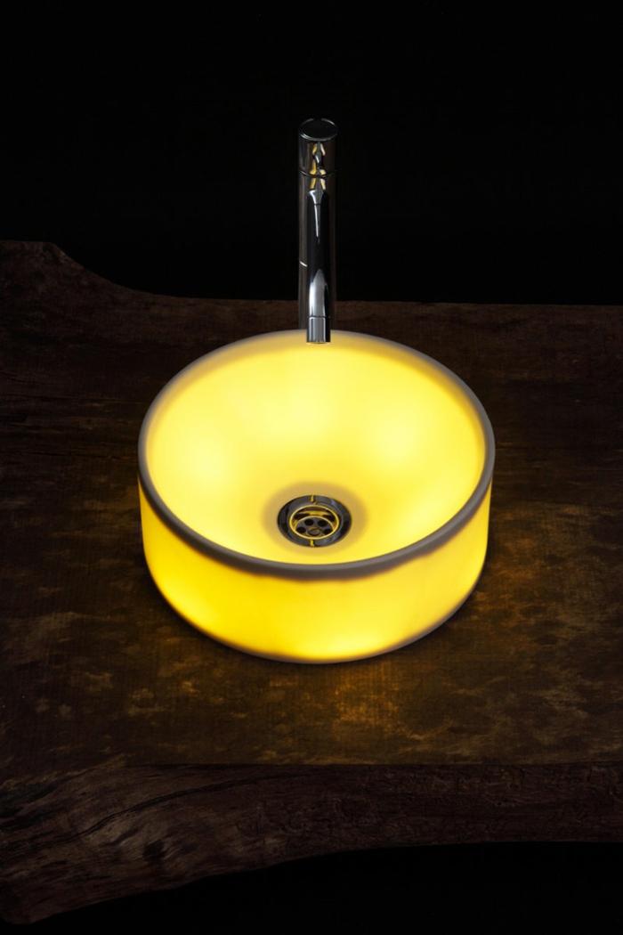 design waschbecken rund led beleuchtet keramik jebiga