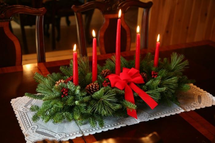 Einfache tischdeko weihnachten basteln  Weihnachtliche Tischdeko selbst gemacht: 55 festliche ...