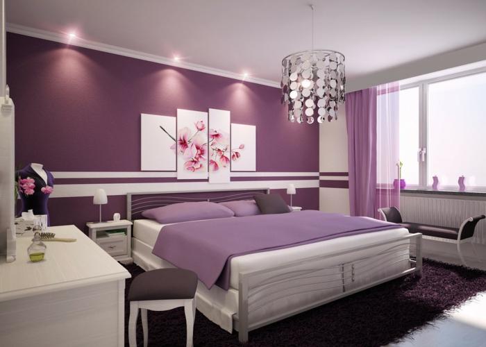 Schlafzimmer Farbe Dunkle Möbel: Farbgestaltung Schlafzimmer Weiße ... Schlafzimmer Gestalten Weie Mbel