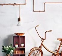 33 Einrichtungsideen mit Röhren für Ihr Zuhause im coolen Industrial Style