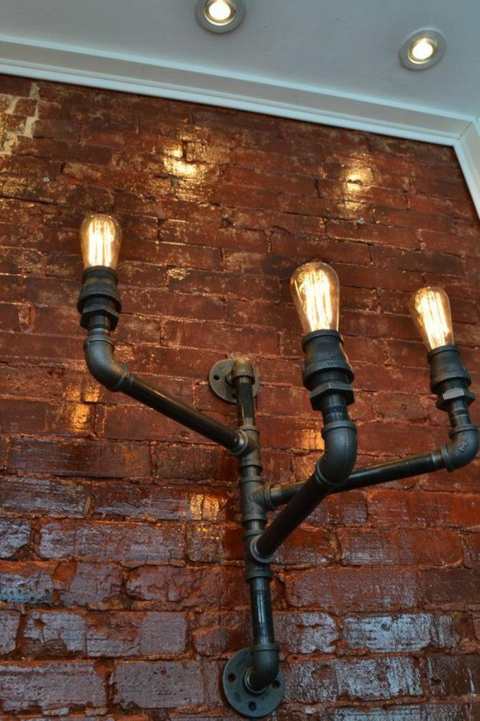 einrichtungsideen wohnen röhre diy wandleuchten glühbirnen wohnidee