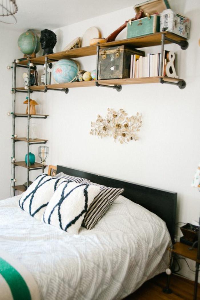 einrichtungsideen röhre diy wohnidee schlafzimmer wandregale selber bauen