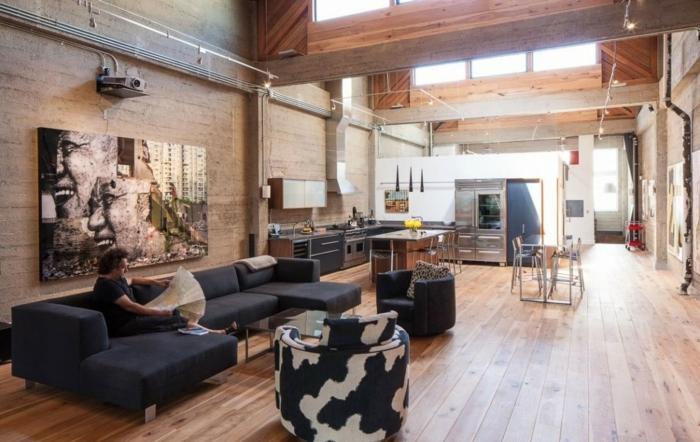 einrichtungsideen wohnen röhre loft wohnung industrieller stil inneneinrichtung wohnidee