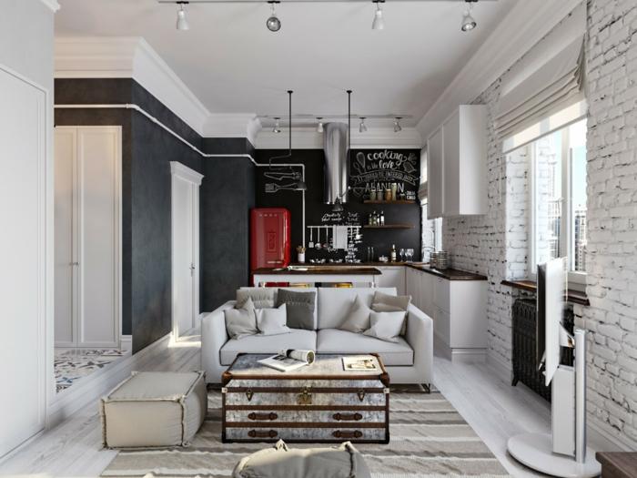 einrichtungsideen wohnen röhren schwarz industrielle inneneinrichtung küche wohnzimmer wohnidee