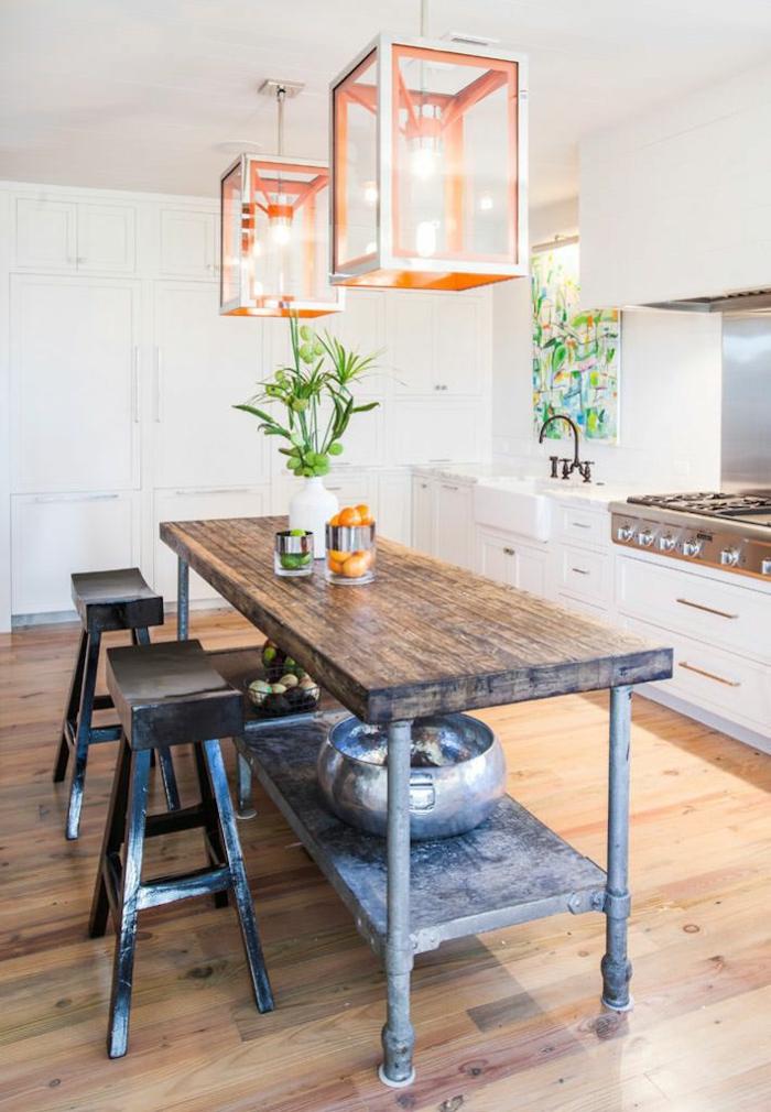 einrichtungsideen wohnen röhren diy esstisch kücheninsel barhocker wohnidee