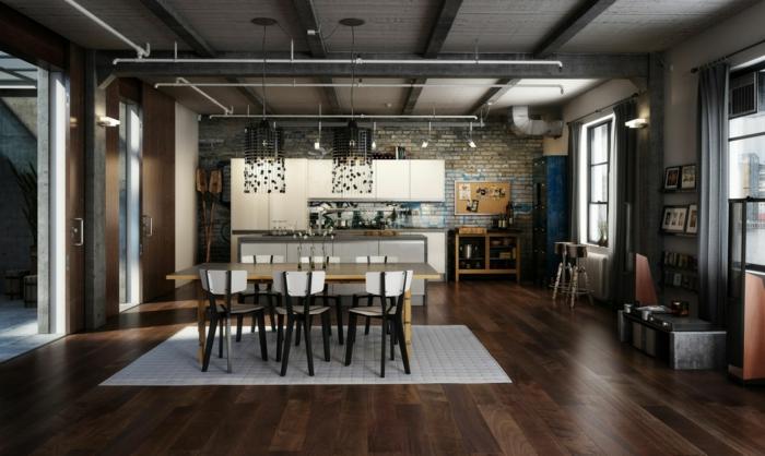 einrichtungsideen wohnen röhren industrieller stil esszimmer küche