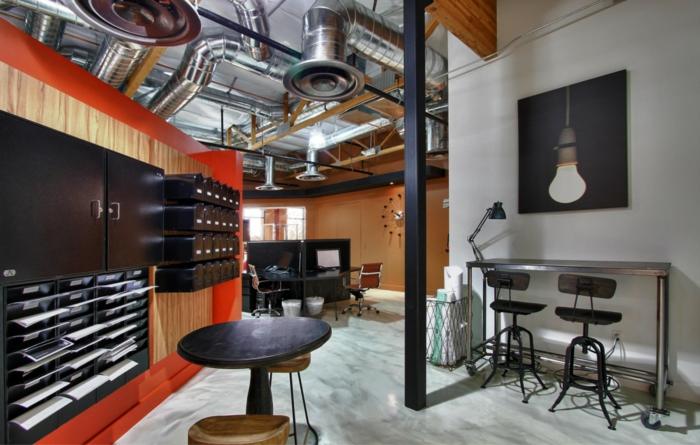 einrichtungsideen wohnen röhren loft wohnung home office inneneinrichtung wohnidee