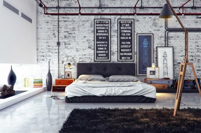 einrichtungsideen wohnen röhren schlafzimmer inneneinrichtung industrieller stil wohnidee