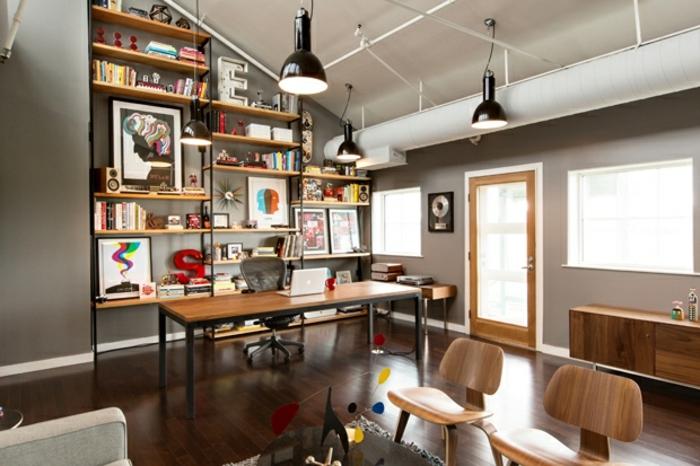 einrichtungsideen wohnen röhren weiß streichen home office arbeitszimmer inneneinrichtung wohnidee industriell