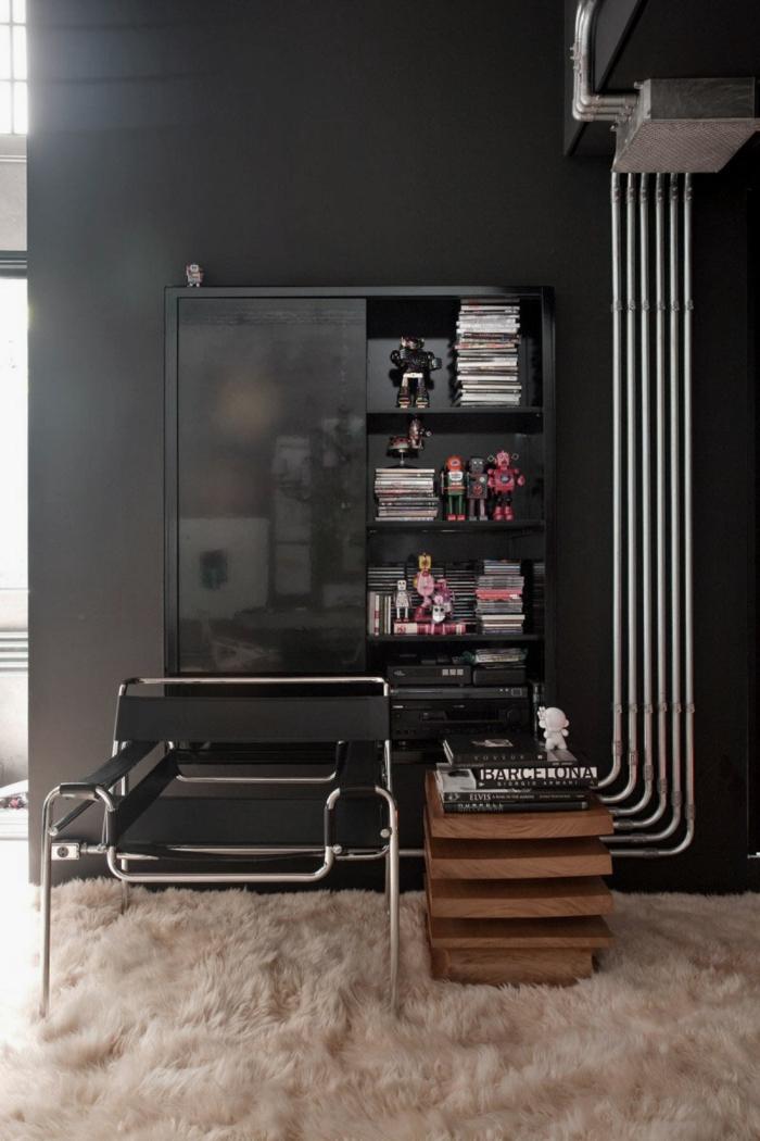 einrichtungsideen wohnen wohnidee röhren wohnzimmer einrichten industrieller stil