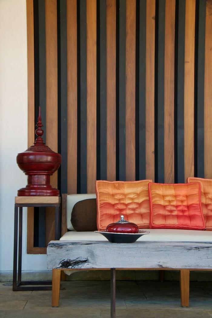 Einrichtungsideen Wohnzimmergestaltung Ideen Wandgestaltung Tapete Streifen