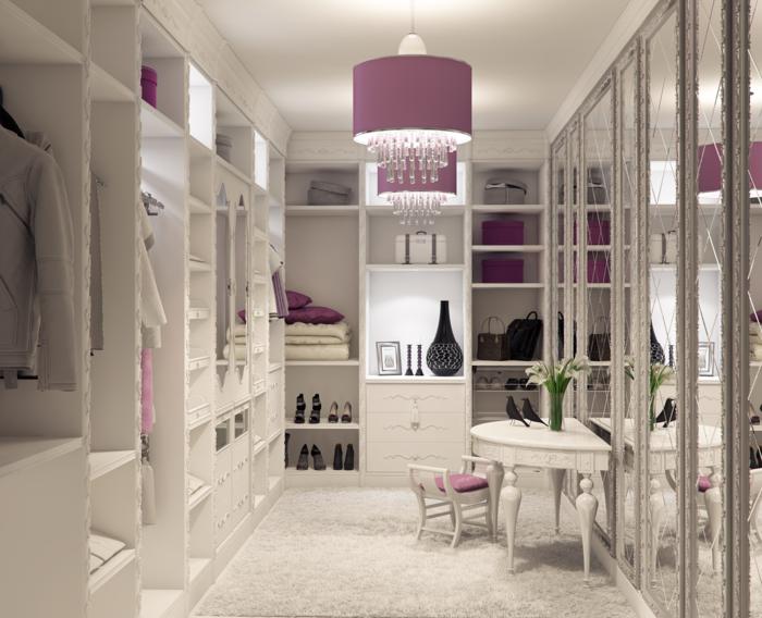 master closet organization ankleidezimmer 60 ideen die fr. Black Bedroom Furniture Sets. Home Design Ideas