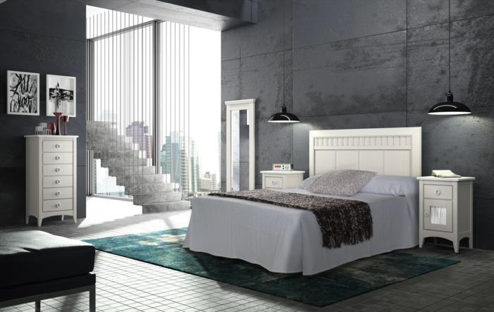 33 Farbgestaltung Ideen Für Ihre Gemütliche Schlafoase Schlafzimmer Anthrazit