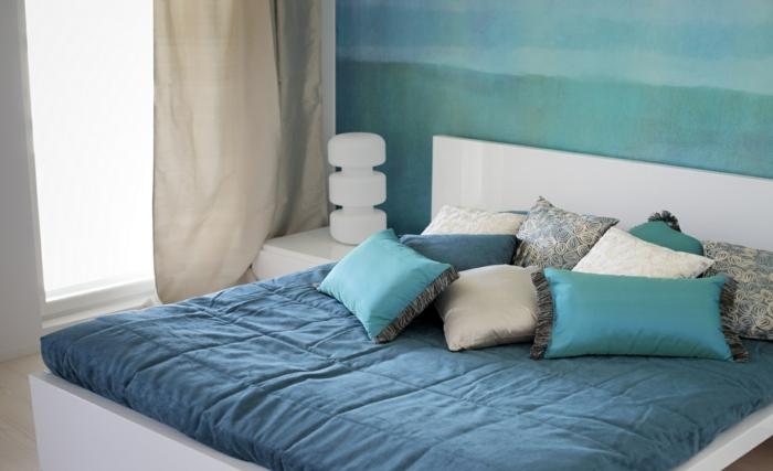33 farbgestaltung ideen für ihre gemütliche schlafoase - Wandgestaltung Schlafzimmer Maritim