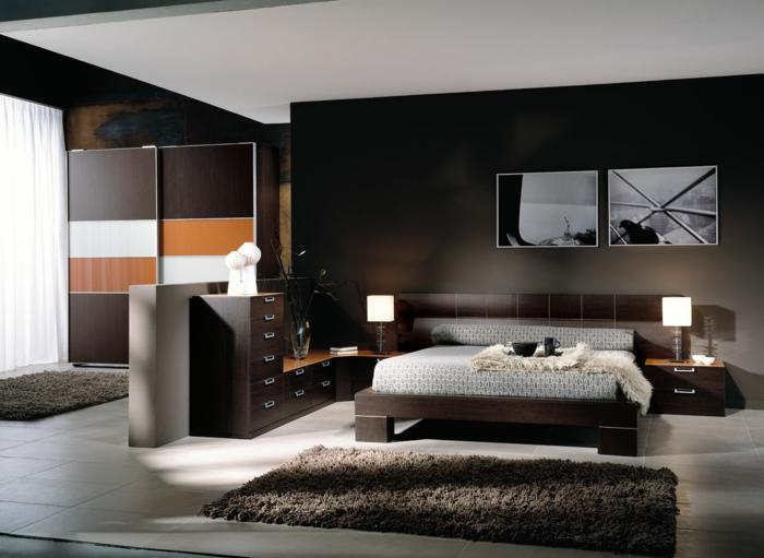 Wanddekoration schlafzimmer  33 Farbgestaltung Ideen für Ihre gemütliche Schlafoase