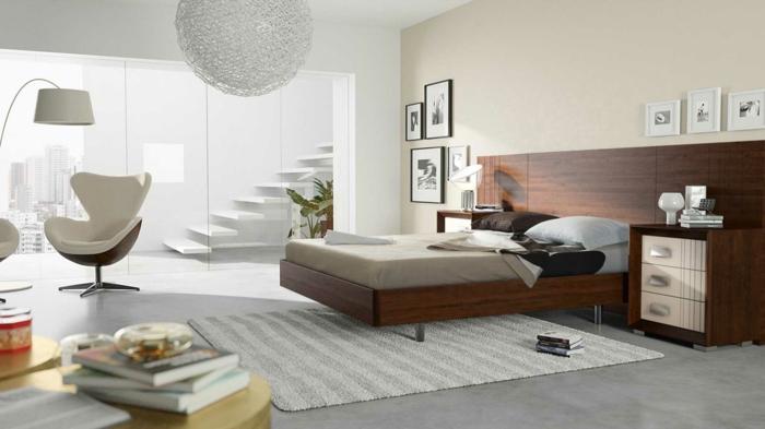 farbgestaltung schlafzimmer wandfarbe beige weiß neutrale farben wanddekoration