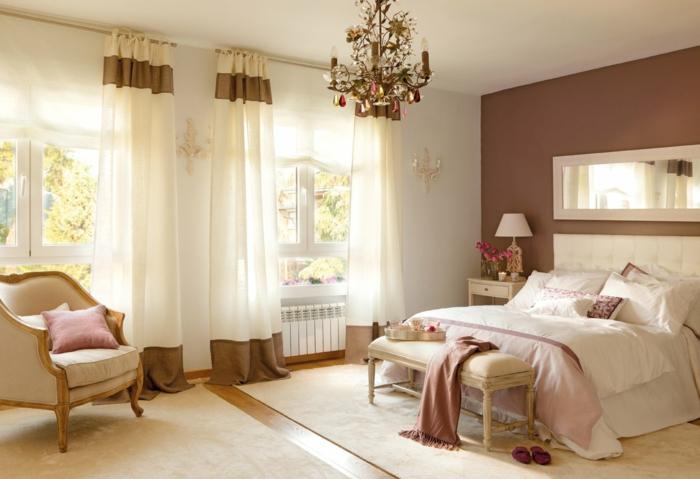 Attraktiv Farbgestaltung Schlafzimmer Wandfarbe Braun Weiß Farbdekoration  Wandgestaltung 33 Farbgestaltung Ideen Für Ihre Gemütliche Schlafoase ...