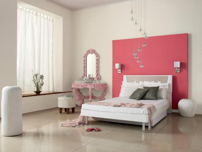 33 farbgestaltung ideen f r ihre gem tliche schlafoase - Rosa wandfarbe schlafzimmer ...