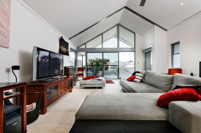 Wohnzimmer In Grau Lila Flur Gestaltung Ideen Wandfarbe Lila 26.11.2016  Mobelnews.com