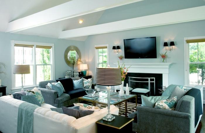 Kreative Farbgestaltung Wohnzimmer : Wohnzimmer streichen ideen die ...