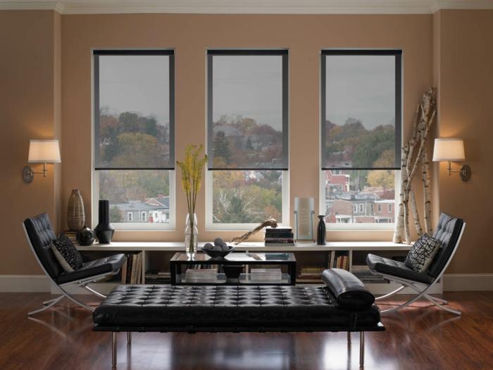 Fenster innen modern  Fenster Sichtschutz - Rollos, Plissees, Jalousien oder?
