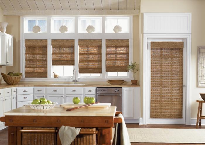 Sichtschutz Fenster Innen Holz ~ fenster sichtschutz holz fensterrollos geflochten küche