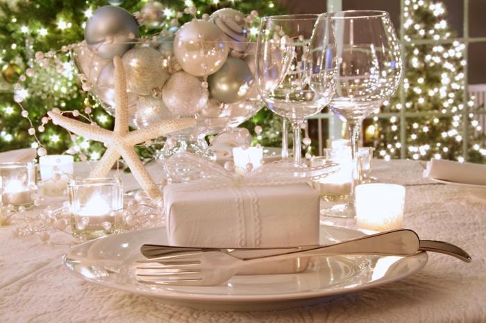 Tischdeko weihnachten silber  Weihnachtliche Tischdeko selbst gemacht: 55 festliche ...