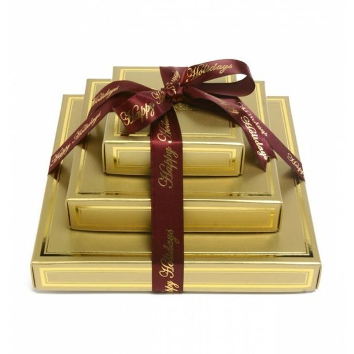 geschenkideen für freundind geschnekideen  freund trueffel mit nuessen vollmilch zimt gold