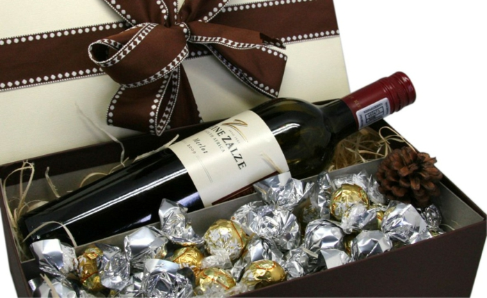 geschenkideen für freundind geschnekideen freund trueffel mit nuessen vollmilch zimt selbst rotwein