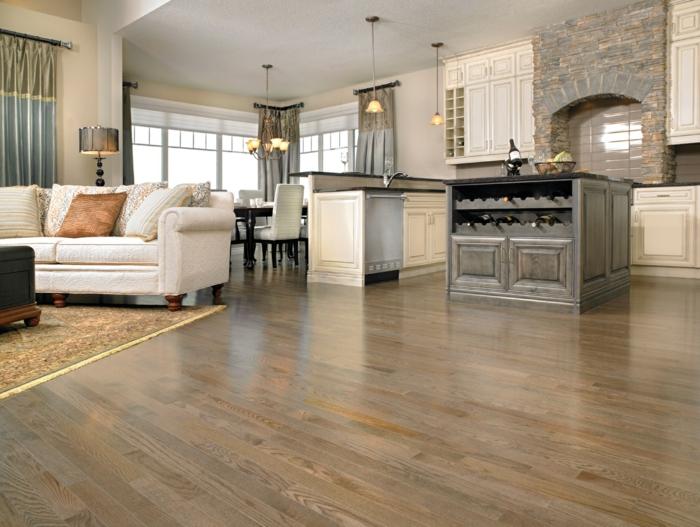 Haus Renovieren Holzboden Wohnzimmer Einrichten Ideen Teppich