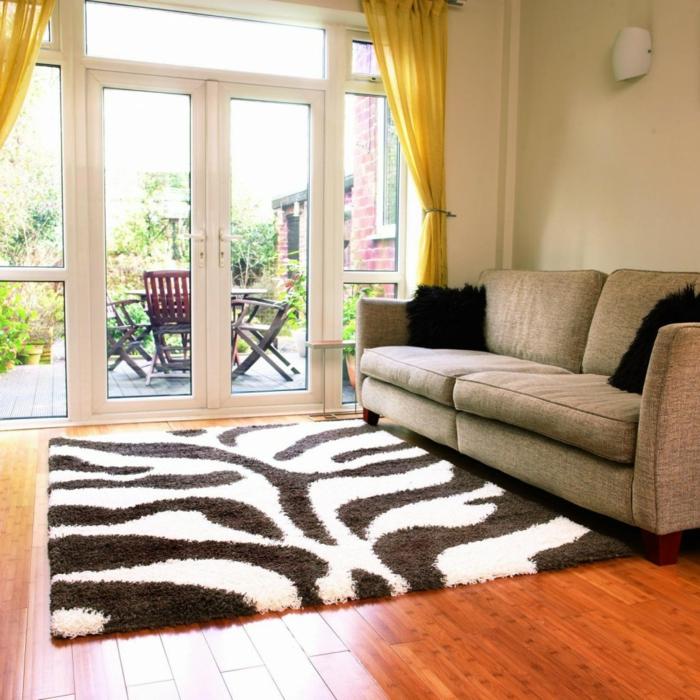 zebra wohnzimmer:Haus Renovieren Teppich Zebra Teppichmuster Wohnzimmer Einrichten