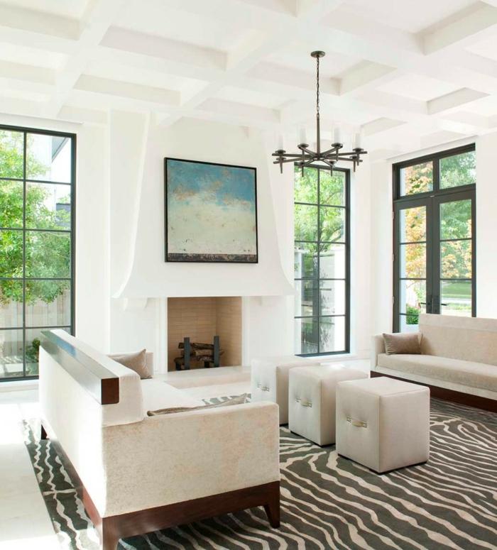 zebra wohnzimmer:zebra wohnzimmer : haus renovieren zebra teppich wohnzimmer kamin
