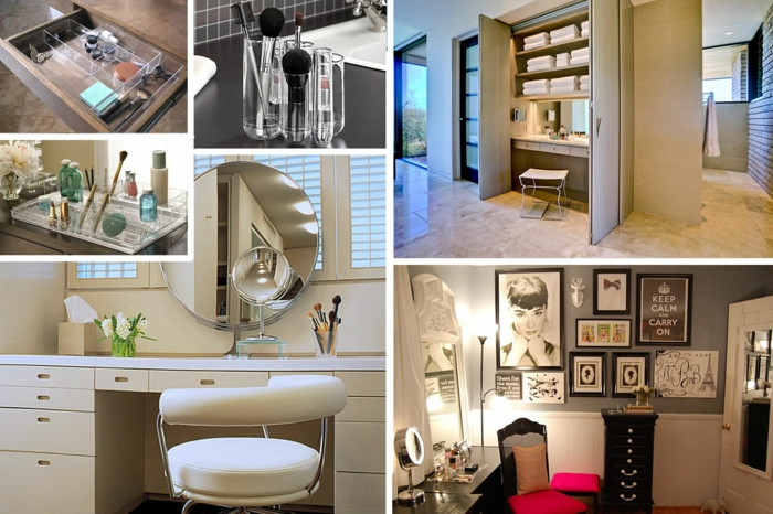 haushaltsplan putzen haus aufräumen kosmetikmittel badezimmer schminktisch runder spiegel