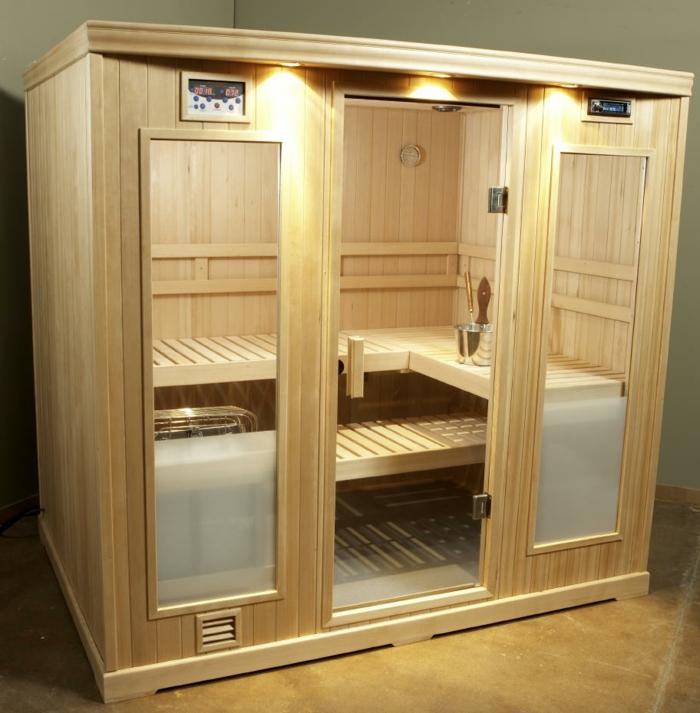 heimsauna karibu sauna dampfsauna sauna Zuhause sauna karibu kompakt sauna helle holz