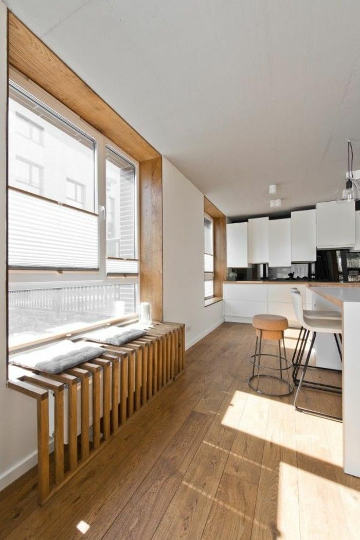Fensterbank Holz Verkleiden ~ heizkörperverkleidung wohnzimmer fensterbank holzplatten holzbohlen