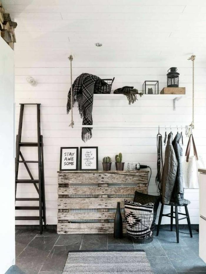 heizkrperverkleidung wohnzimmer flur europalette wandregal kleiderstange leiter - Einfache Dekoration Und Mobel Moderne Heizung Fuer Modernes Wohnen