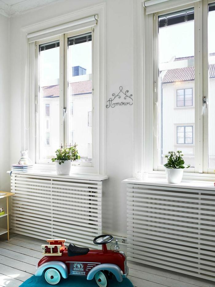 Fesselnd Heizkörperverkleidung Wohnzimmer Kinderzimmer Weiße Holzgitter