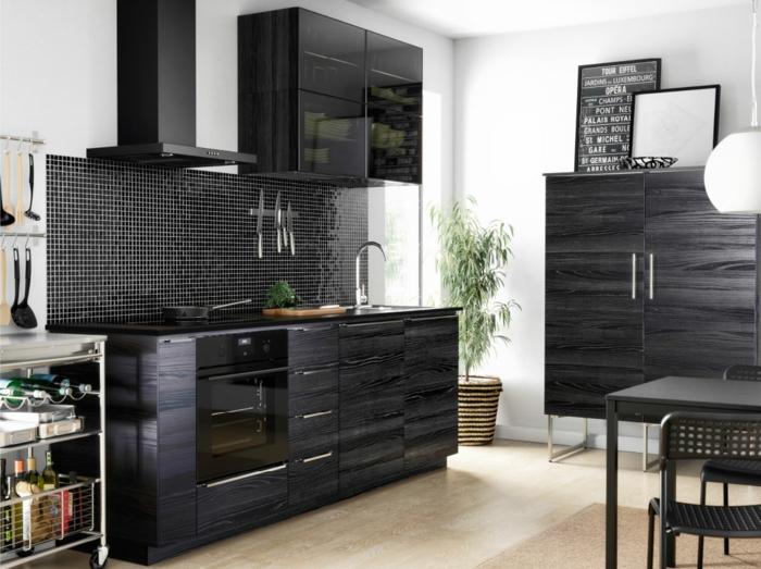 ikea küchen modern 2015 dunkles holz fronten unterschränke ...