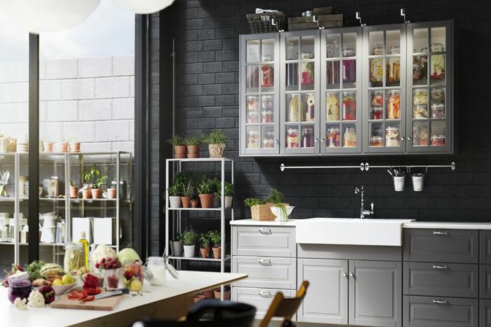 Ikea Küchen Direkt Mitnehmen ~ ikea küchen traditionelles design fronten schränke hellgrau