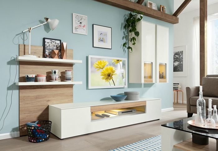 Wohnwand ikea besta  IKEA Wohnwand BESTÅ - ein flexibles Modulsystem mit Stil