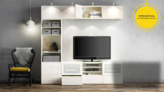 wohnwand ideen ikea. Black Bedroom Furniture Sets. Home Design Ideas
