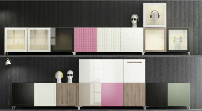 ikea wohnwand besta wohnsystem 2015 modernes design schränke bunt