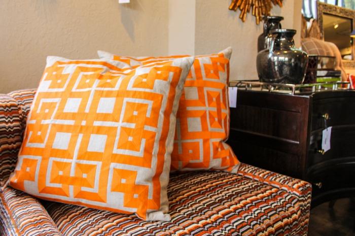 inneneinrichtung einrichtungideen wohnungeinrichten gewebt orange