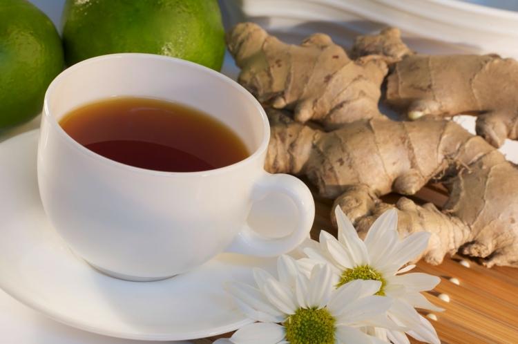 ist Tee gesund Kamilentee Ingwertee